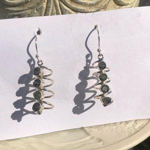 Jewelry - Moldavite Sterling Silver Earrings